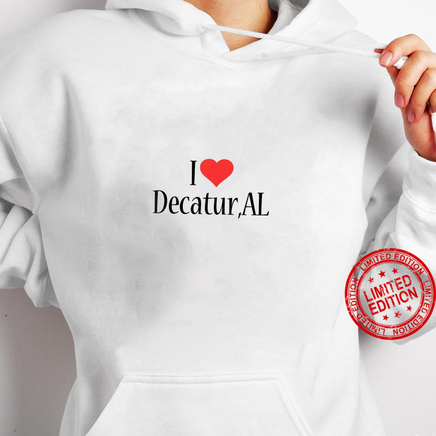 Womens I Love Decatur ALABAMA Heart City State Combination Shirt hoodie