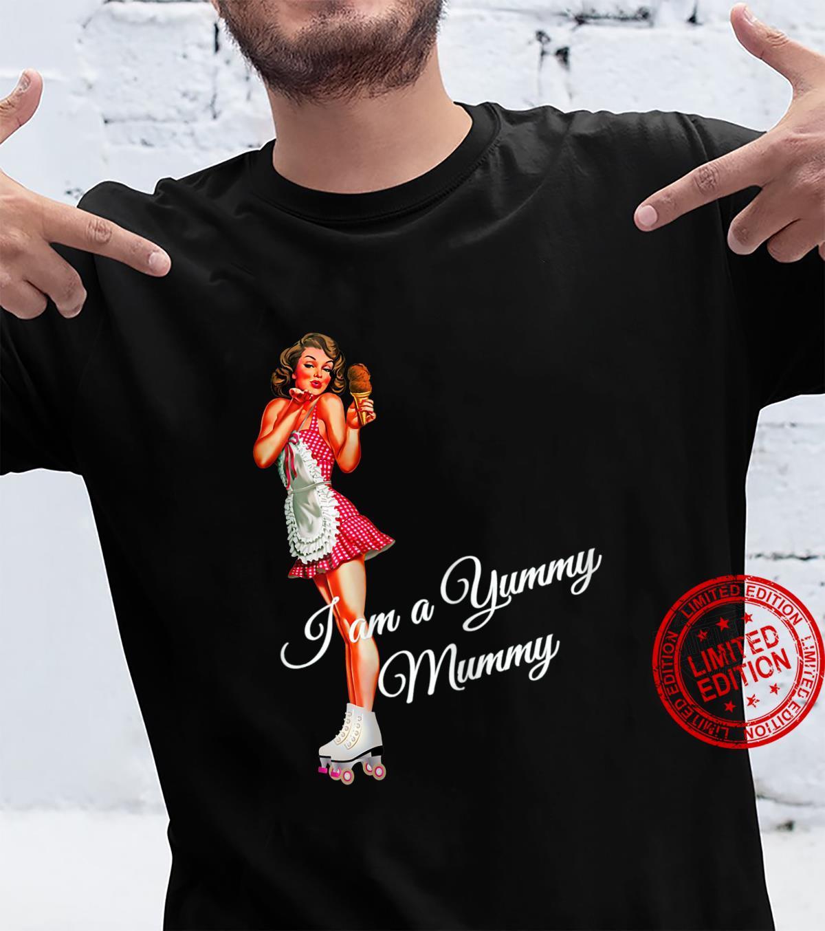 Womens I am a Yummy Mummy Mother's Day Fifties PinUp Mum Shirt