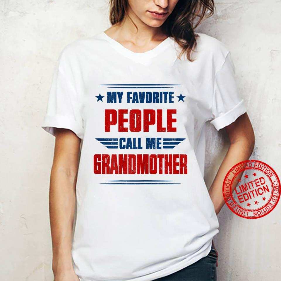 Womens People Call Me Grandmother Awesome Shirt ladies tee