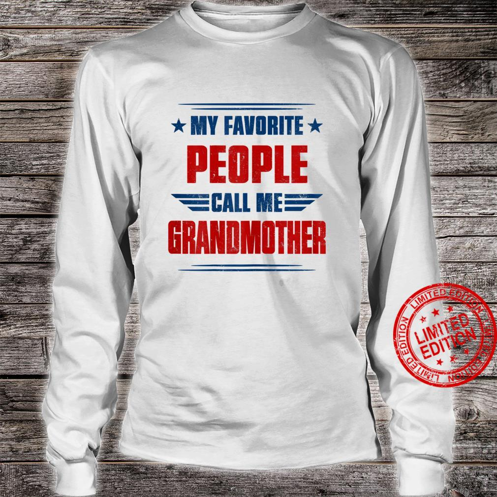 Womens People Call Me Grandmother Awesome Shirt long sleeved