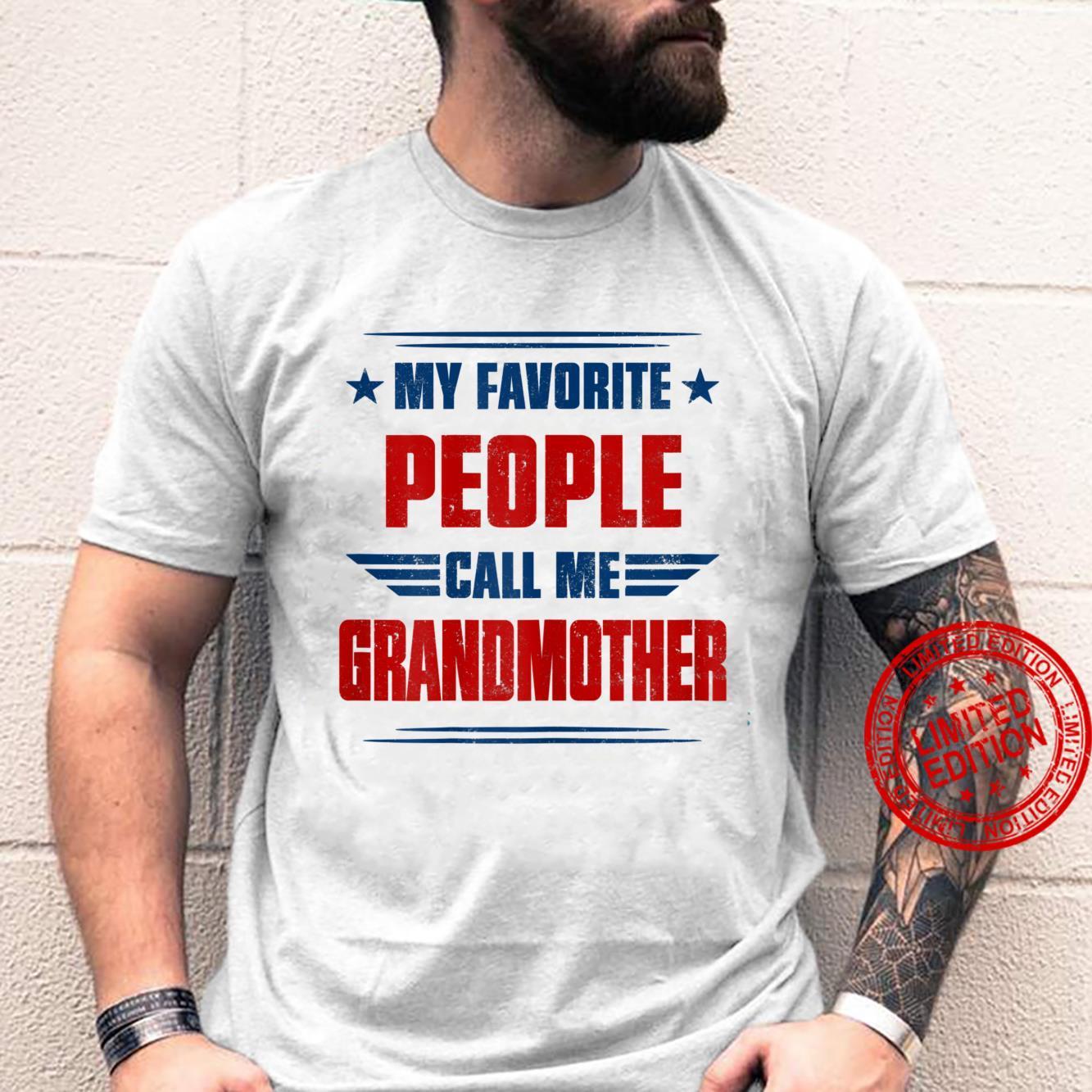 Womens People Call Me Grandmother Awesome Shirt