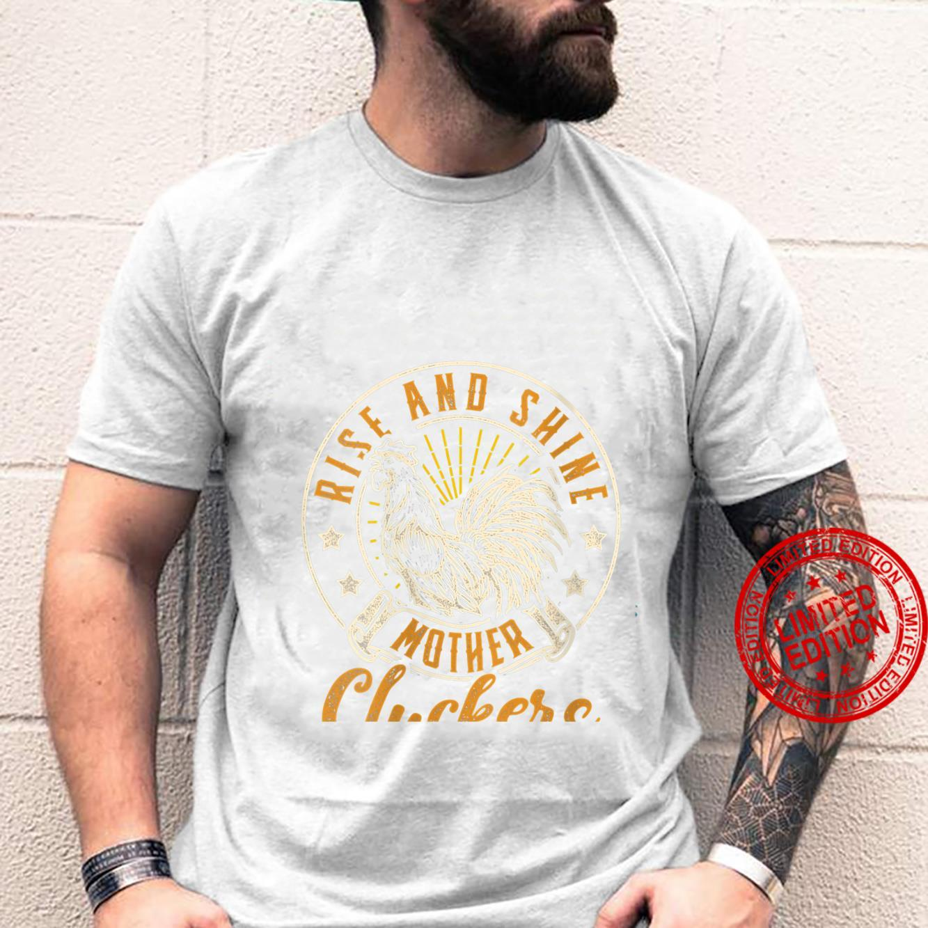 Womens Rise And Shine Mother Cluckers Chicken Design Shirt