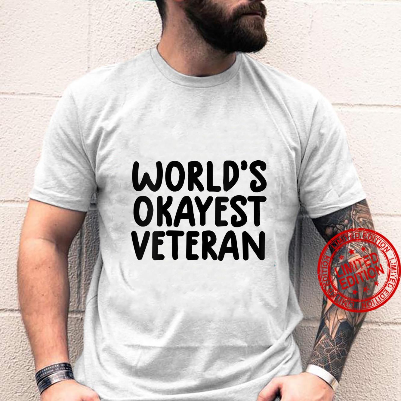 Womens veterans day world's okayest veteran Shirt