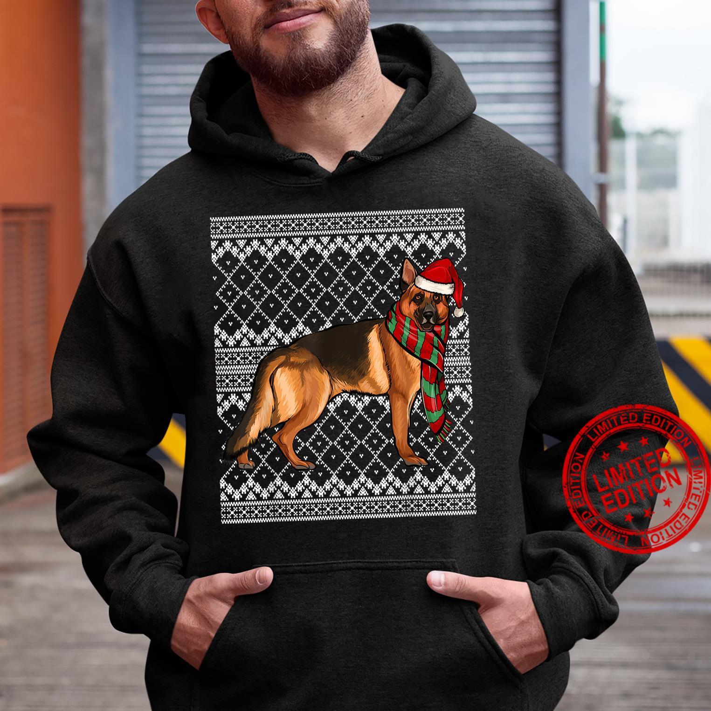 Xmas German Shepherd Santa Claus Hat Ugly Christmas Shirt hoodie