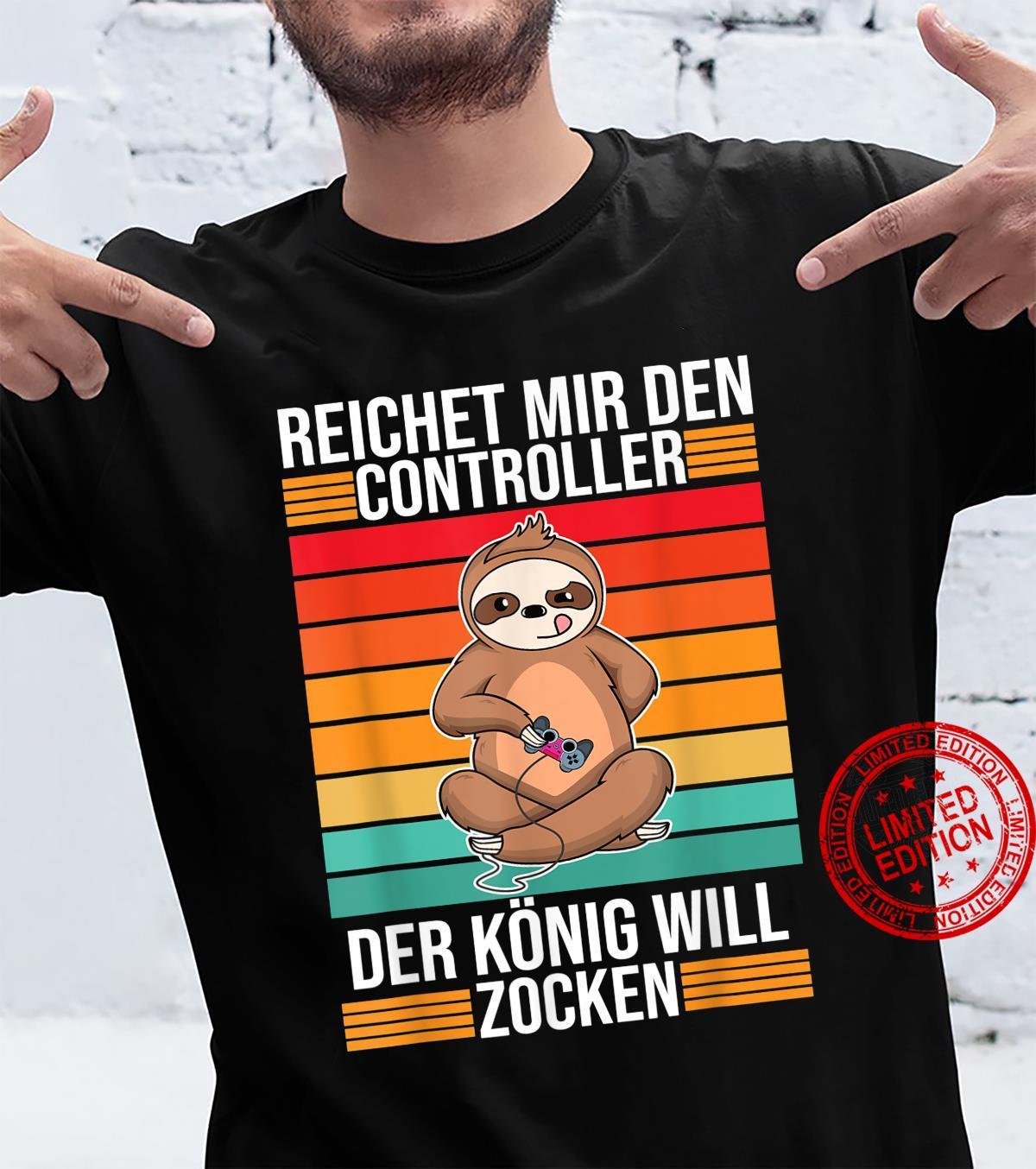 Zocken Reichet mir den Controller König PS5 Konsole Gamer Shirt