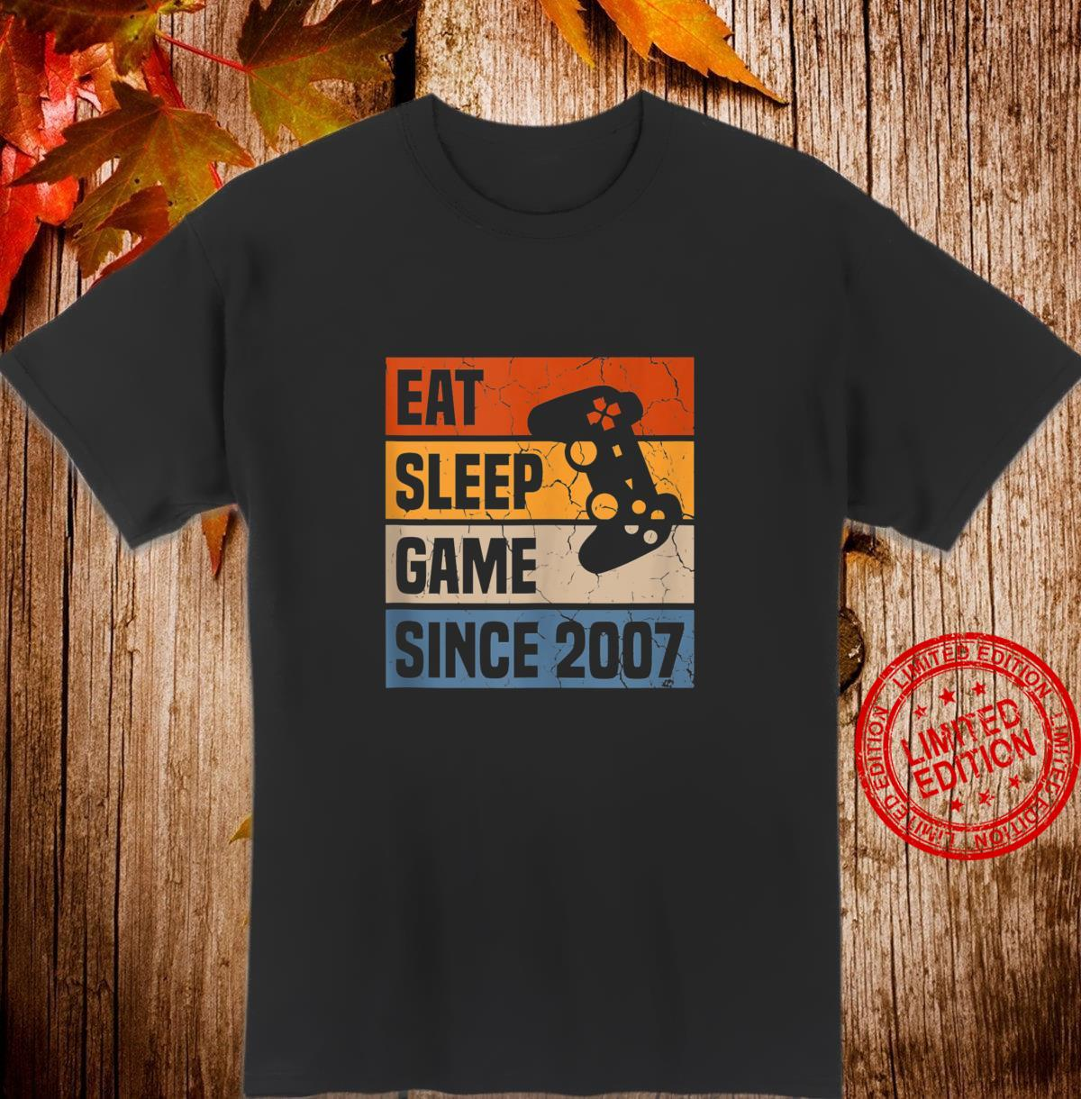 13 Years Eat Sleep Game Since 2007 Gaming 13th Birthday Shirt