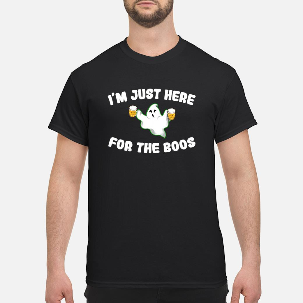 A Halloween Ghost Design I'm Just Here For The Boos Shirt