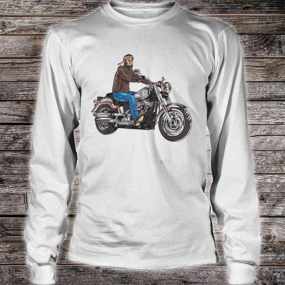 Abe Lincoln Merica Biker Shirt long sleeved