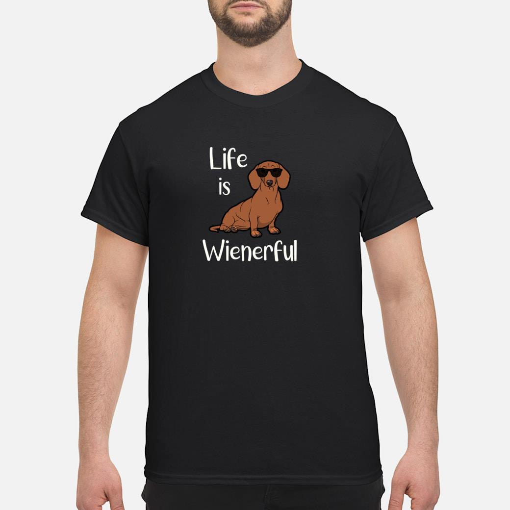 Adorable Life Is Wienerful Dachshund Doxie Shirt