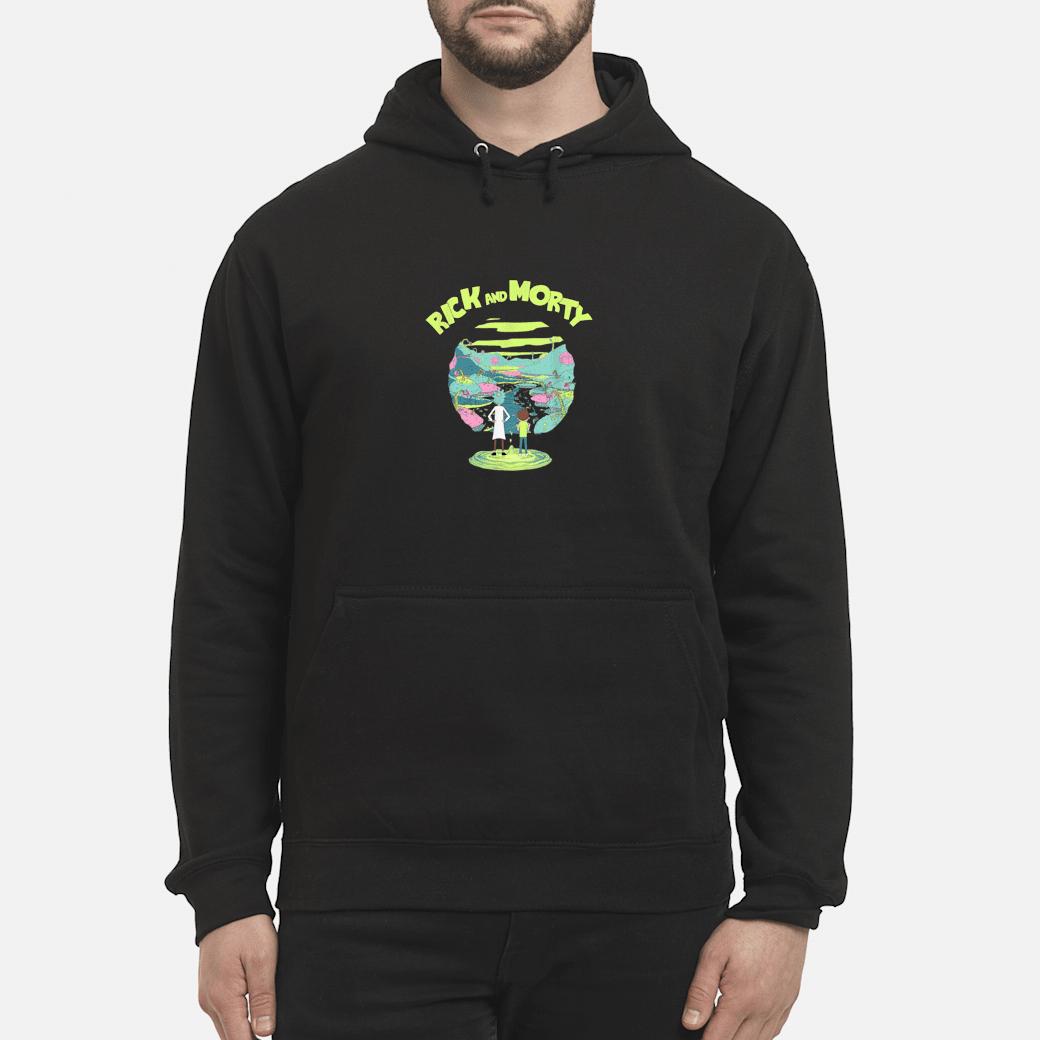 Adult Swim Rick & Morty Landscape Shirt hoodie