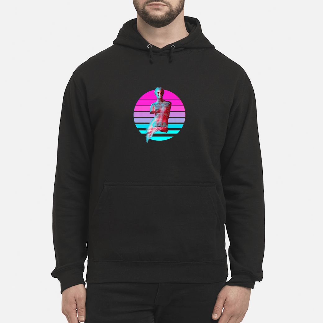 Aesthetic Grunge Venus Skeleton Vaporwave Halloween Design Shirt hoodie