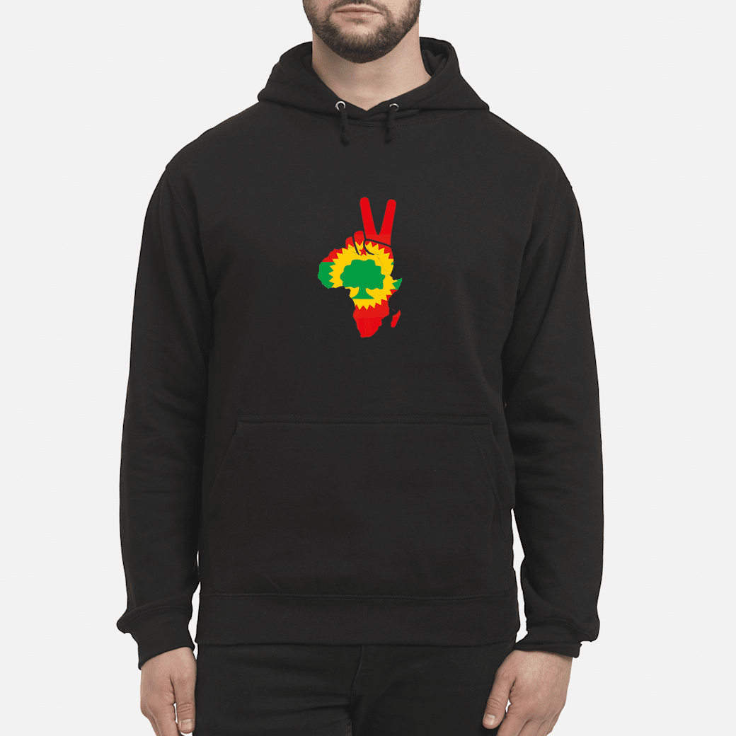 Africa Oromo Flag Peace sign Proud Ethiopia oromo Shirt hoodie