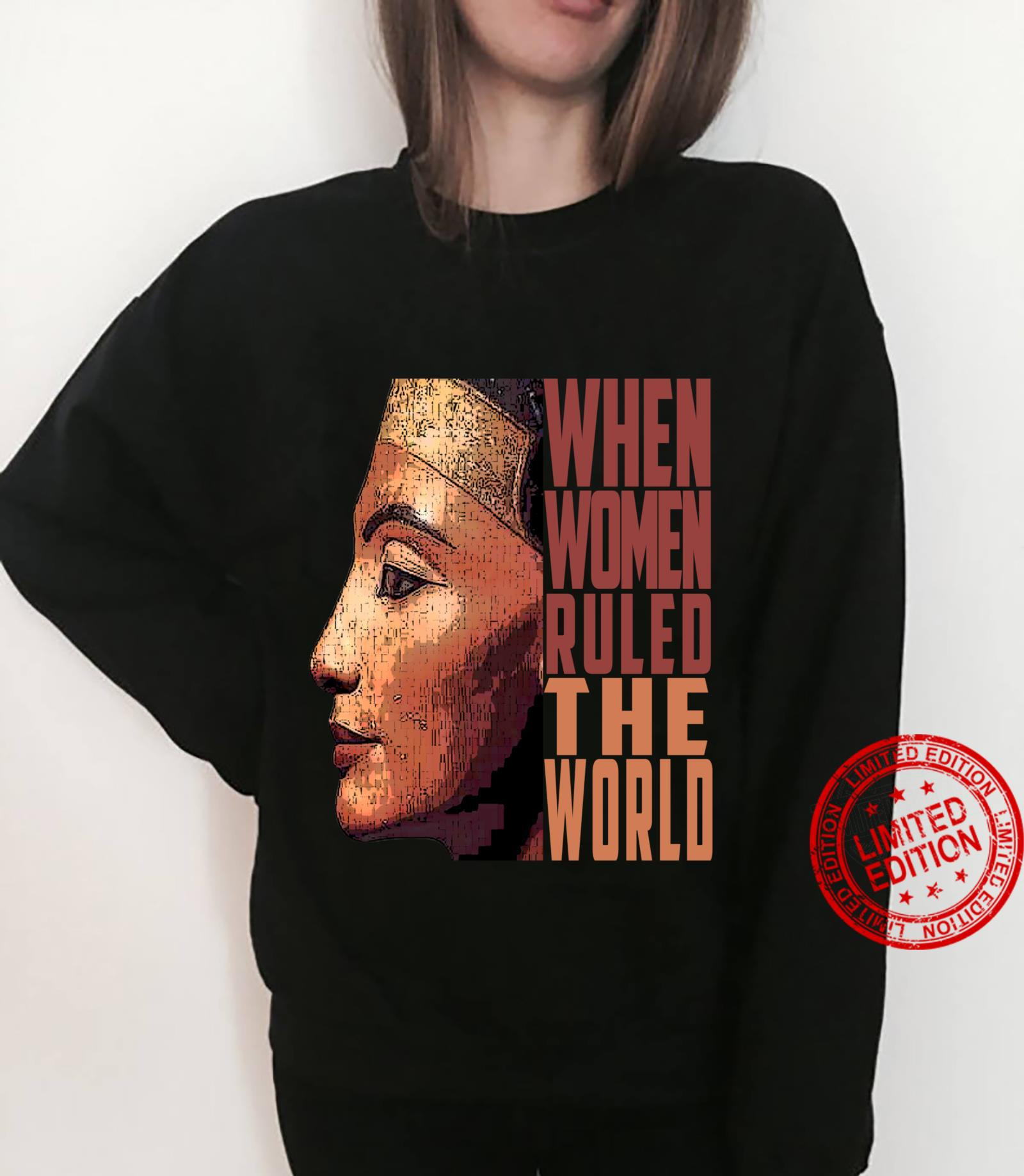 Ancient Queen Nefertiti when ruled the world Old Egypt Shirt sweater