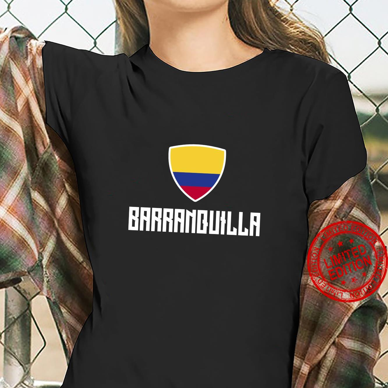 Barranquilla Colombian Flag Roots Heritage Colombia Shirt ladies tee