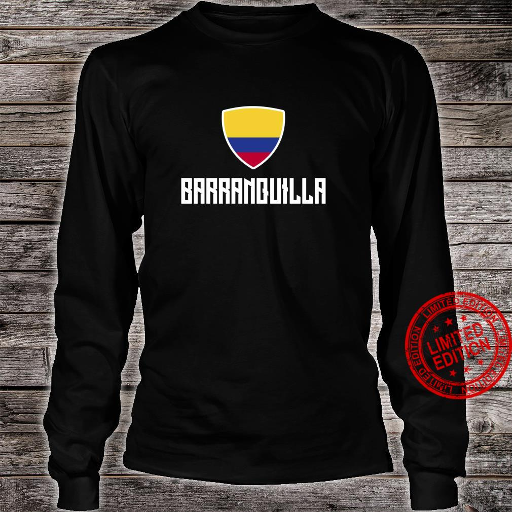 Barranquilla Colombian Flag Roots Heritage Colombia Shirt long sleeved