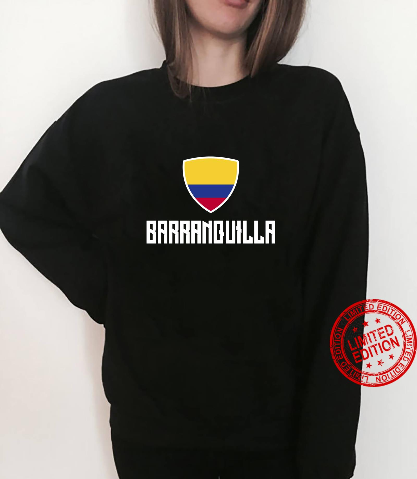 Barranquilla Colombian Flag Roots Heritage Colombia Shirt sweater