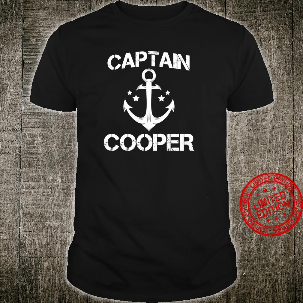 CAPTAIN COOPER Birthday Personalized Surname Clan Shirt