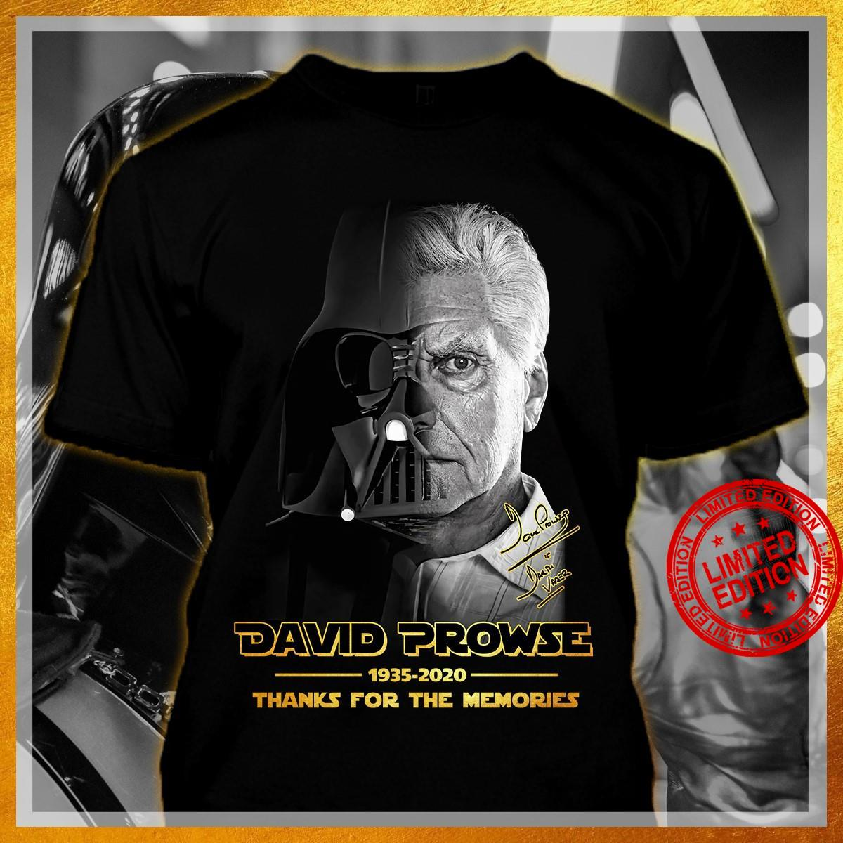 David Prowse 1935 2020 Thanks For The Memories Shirt
