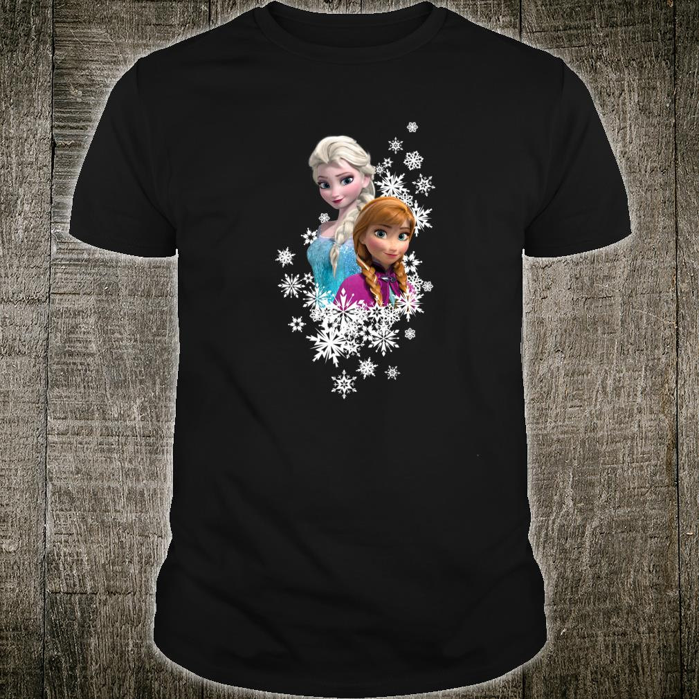 Disney Frozen Anna and Elsa Snowflakes Shirt