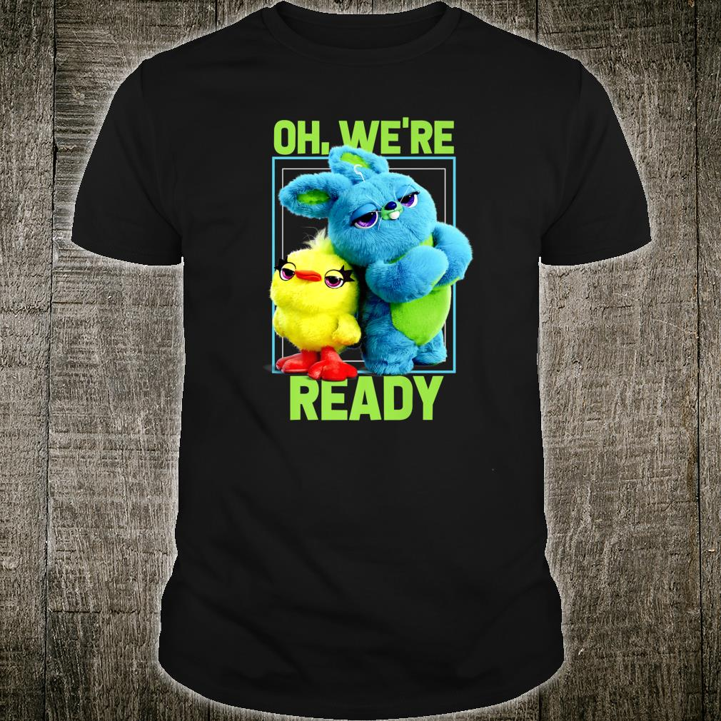 Disney Pixar Toy Story 4 Ducky & Bunny We're Ready Poster Shirt