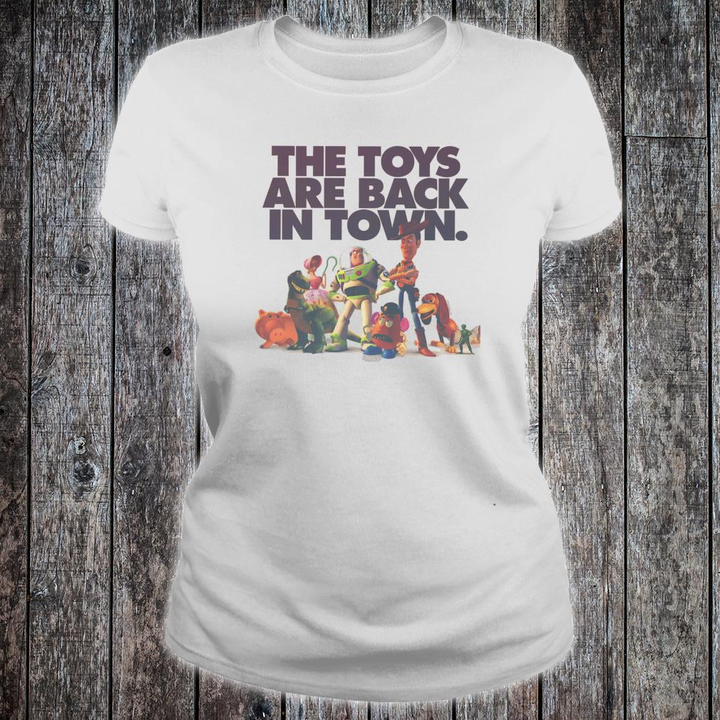 Disney Pixar Toy Story The Toys Are Back In Town Group Shot Shirt ladies tee