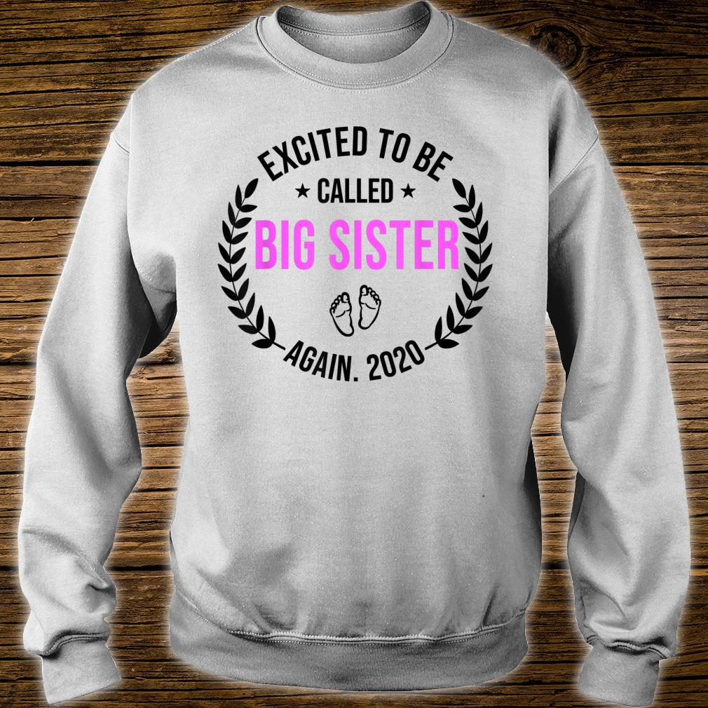 Excited To Be Called Big Sister Again 2020 New Sister Shirt sweater