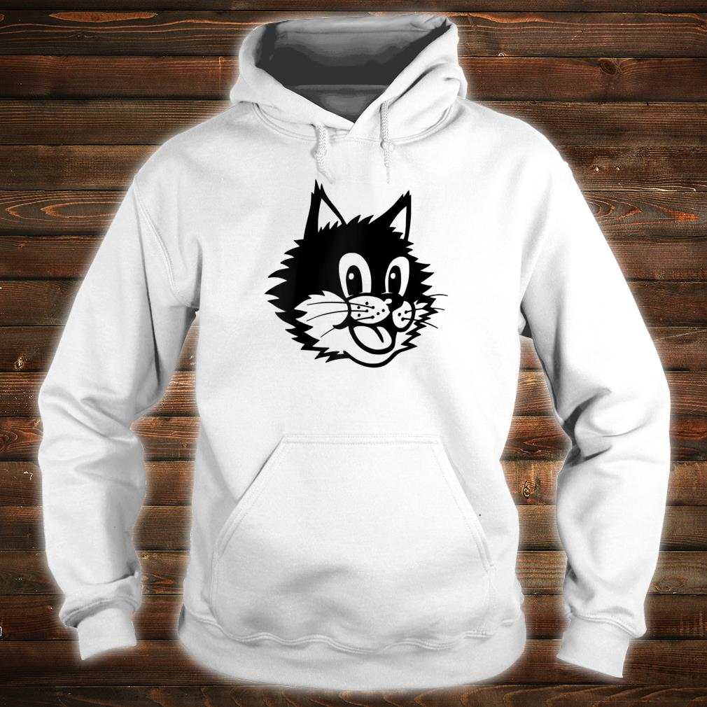 Funny Cartoon Smiling Laughing Happy Cat Kitten Face Shirt hoodie