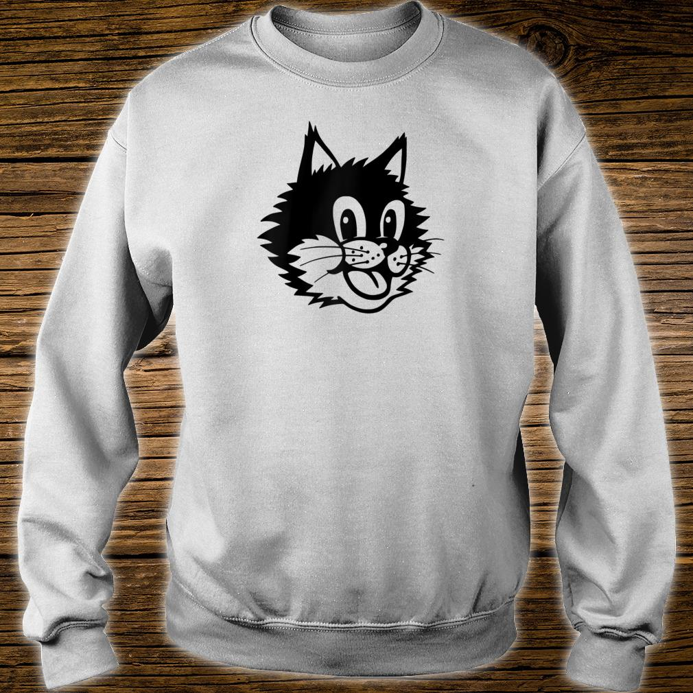 Funny Cartoon Smiling Laughing Happy Cat Kitten Face Shirt sweater