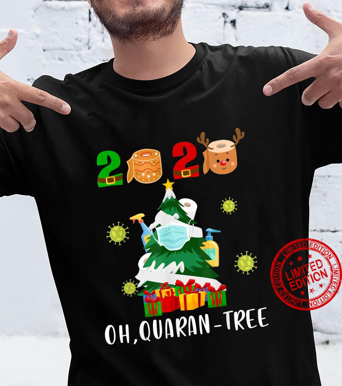 Funny Oh, QuaranTree Quarantine Christmas 2020 Shirt