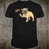 Gay Pug LGBT Pride Rainbow Flag Pug Pride Month Shirt