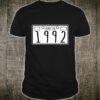 Geburtstagsgeschenk Hergestellt 1992 Kennzeichendesign Shirt