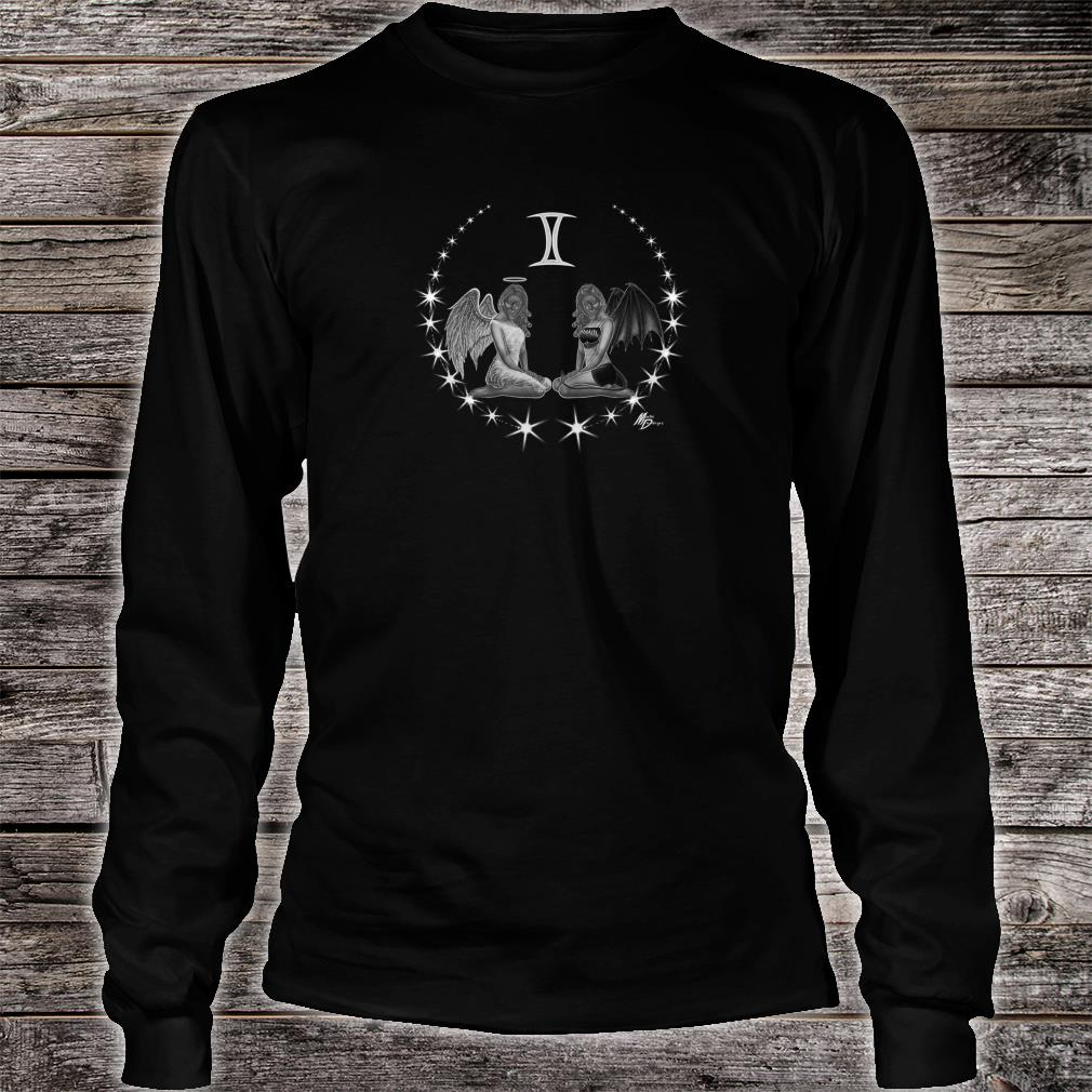 Gemini zodiac with astrology symbol by Mortal Designs Shirt long sleeved