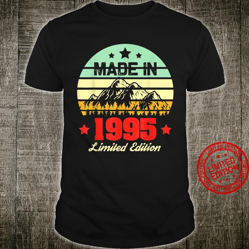 Gift for 25 Year Old Vintage Mountain 1995 25th Birthday Shirt