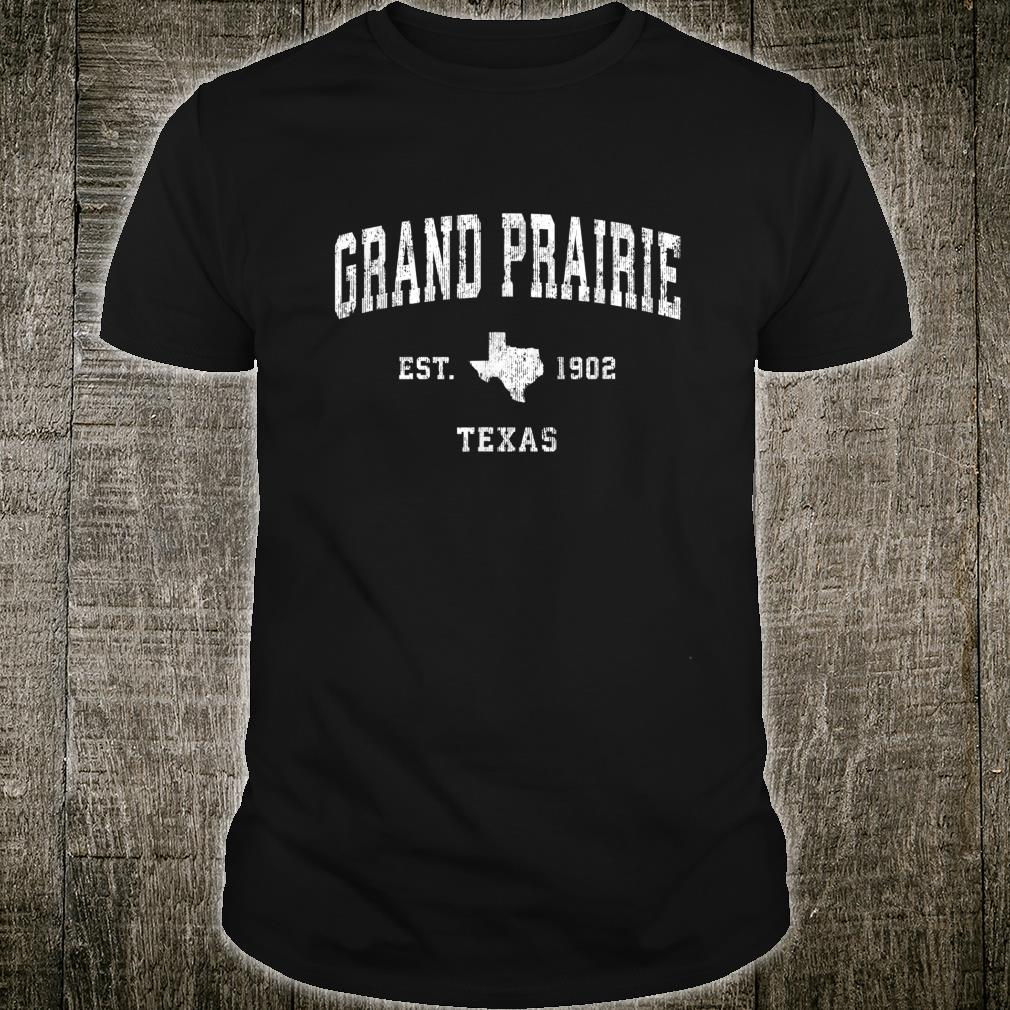 Grand Prairie Texas TX Vintage Athletic Sports Design Shirt