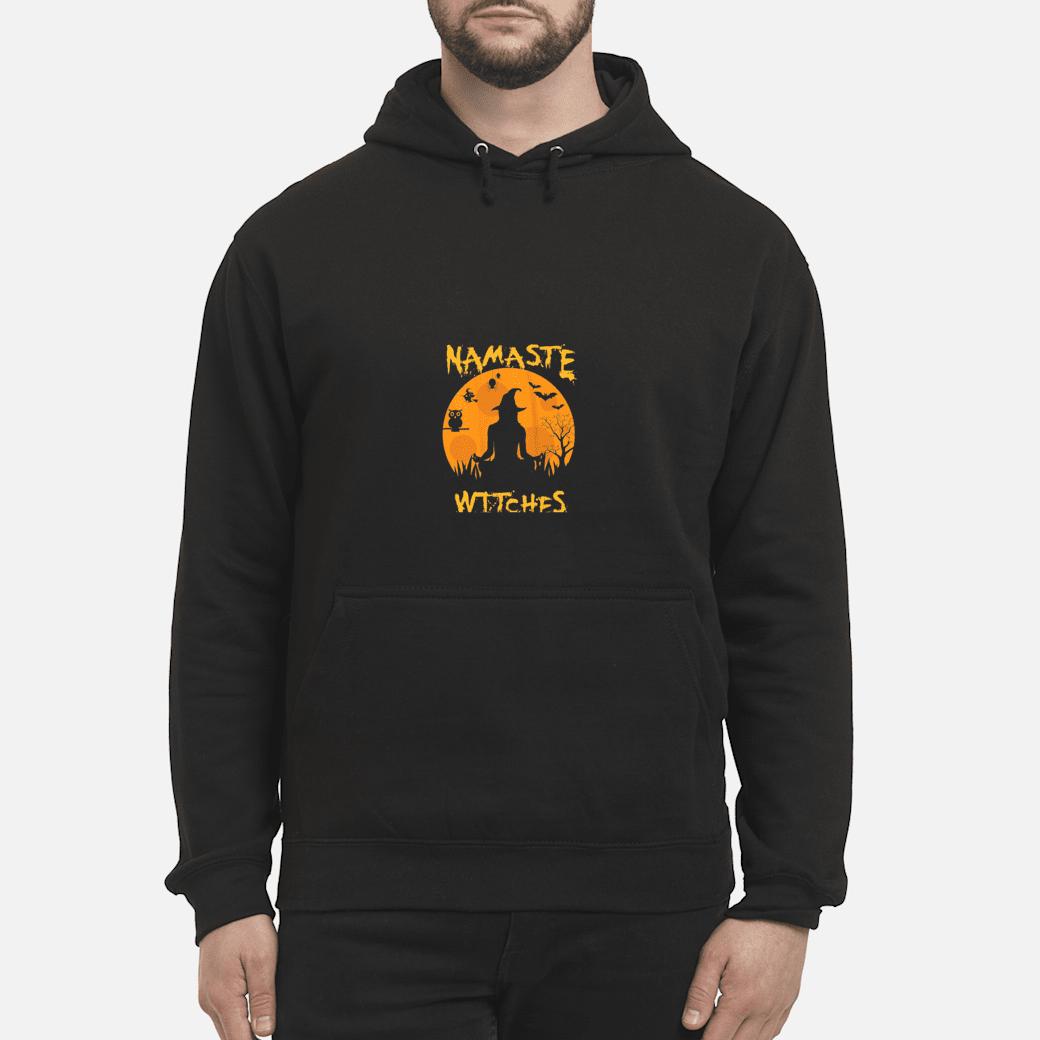 Halloween Witch Yoga Lotus Namaste Witches Yogi Costume Shirt hoodie