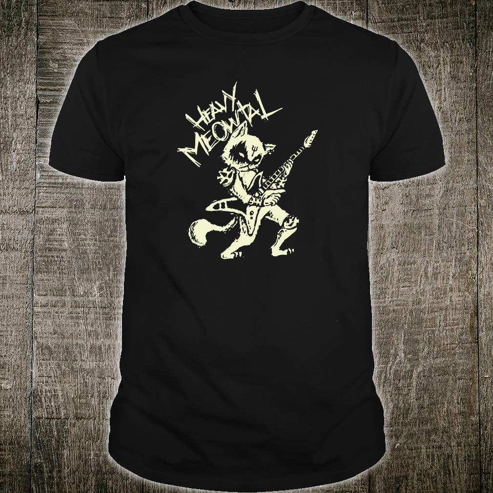 Heavy metal cats clothing guitar playing cat gothic shirt