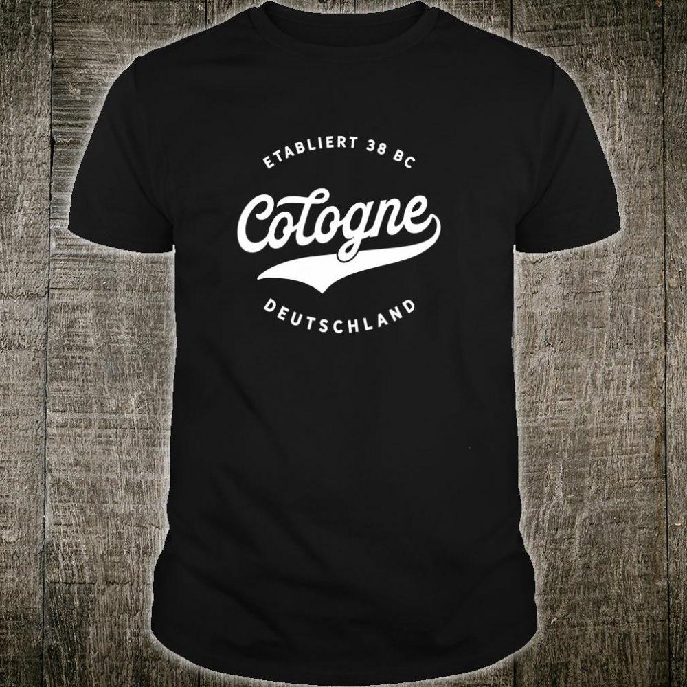 Jahrgang Cologne Deutschland Klassisches Geschenk Shirt