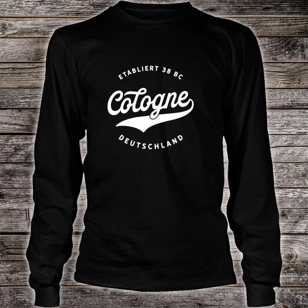 Jahrgang Cologne Deutschland Klassisches Geschenk Shirt long sleeved