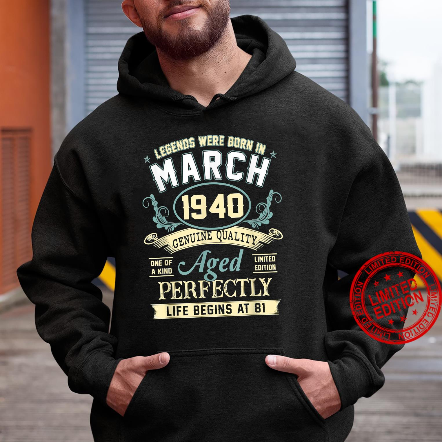 March 1940 81st Birthday 81 Year Old Shirt hoodie
