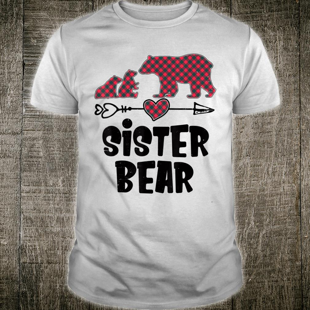 Matching Family Christmas Sister Bear Two Cubs Red Plaid Shirt