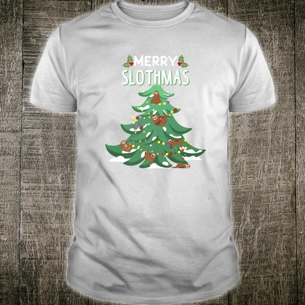 Merry Slothmas Ugly Christmas Shirt