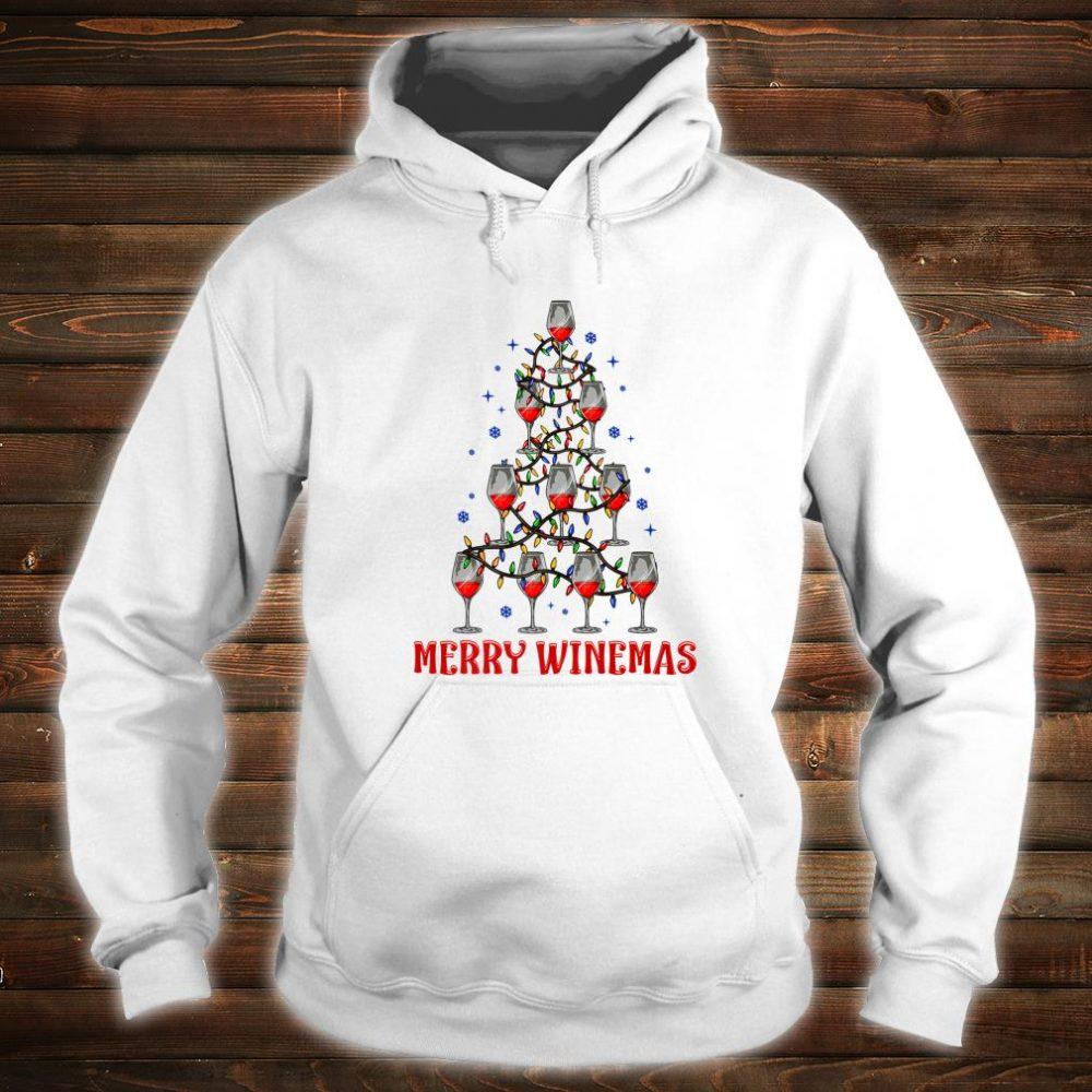 Merry Winemas Ugly Christmas Shirt hoodie