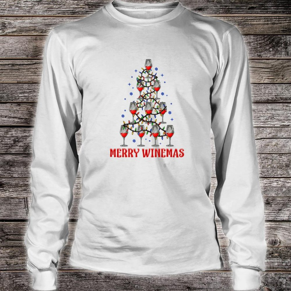 Merry Winemas Ugly Christmas Shirt long sleeved