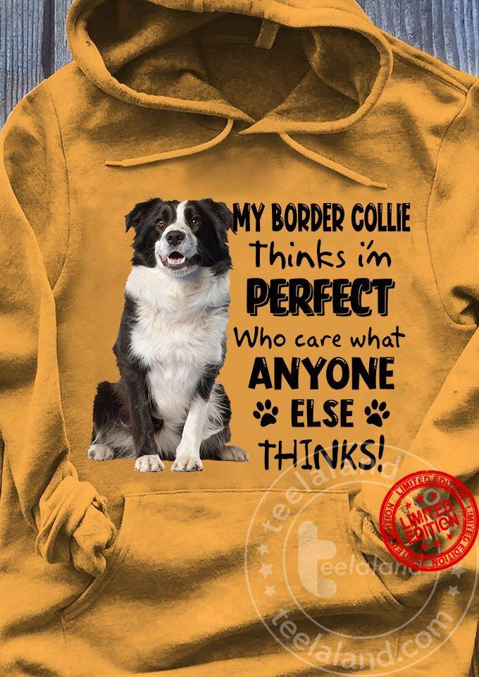 My Border Collie Think I'm Perfect Who Care What Anyone Else Thinks Shirt