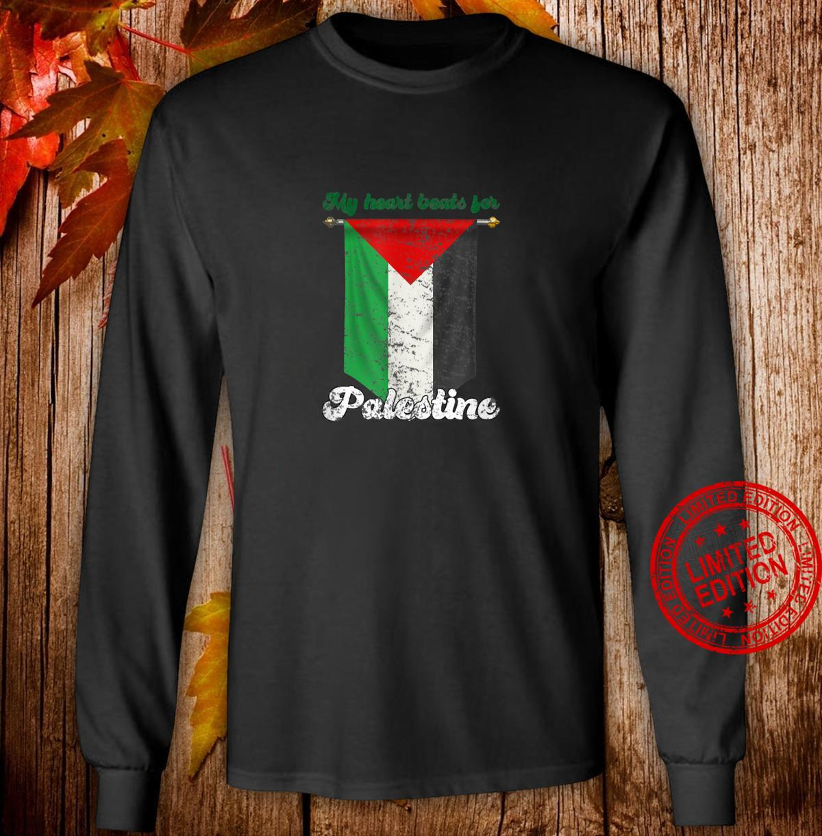 My Heart Beats For Palestine Shirt long sleeved