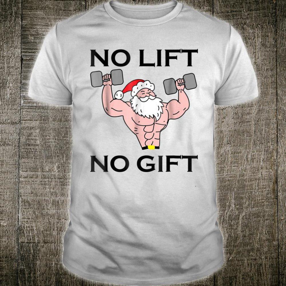 No Lift No Shirt Christmas Workout Santa Muscle Shirt