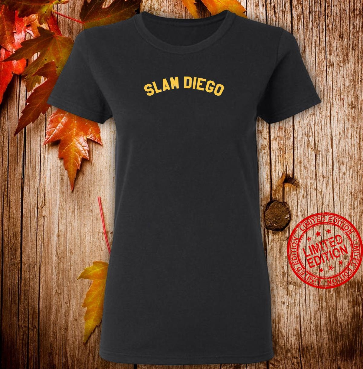 OFFICIAL SLAM DIEGO Curved T EXCLUSIVE LIMITED EDITION Shirt ladies tee