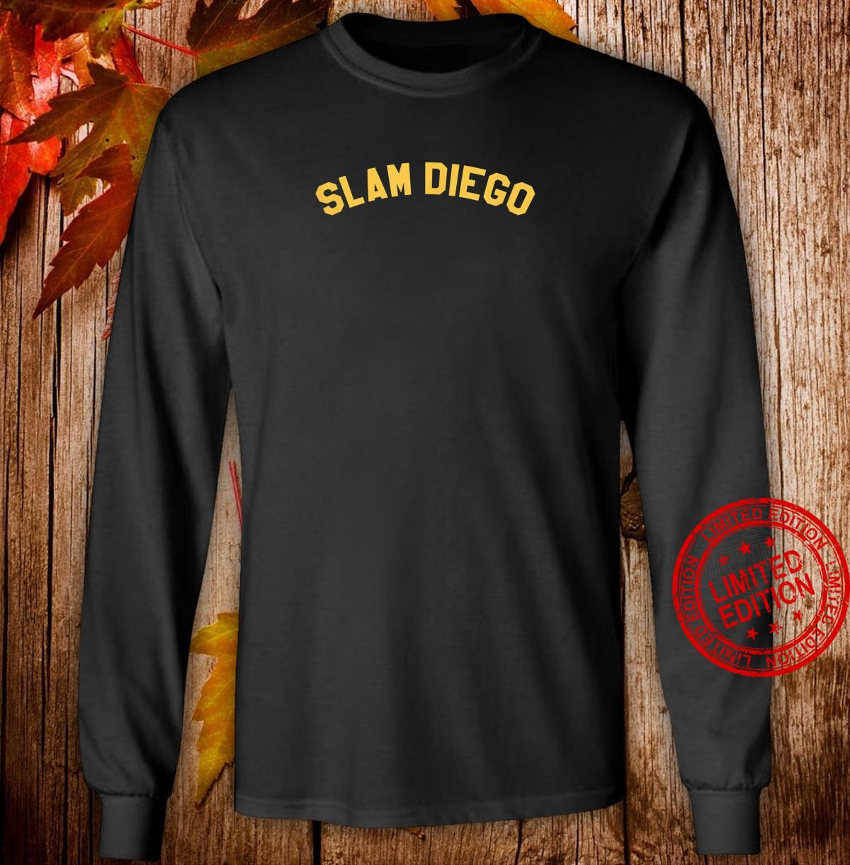 OFFICIAL SLAM DIEGO Curved T EXCLUSIVE LIMITED EDITION Shirt long sleeved