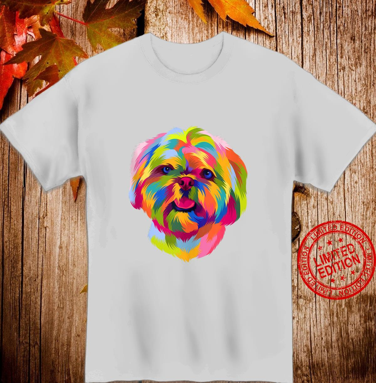 Pop Art Shih Tzu Cute Puppy Owner Dog Shirt