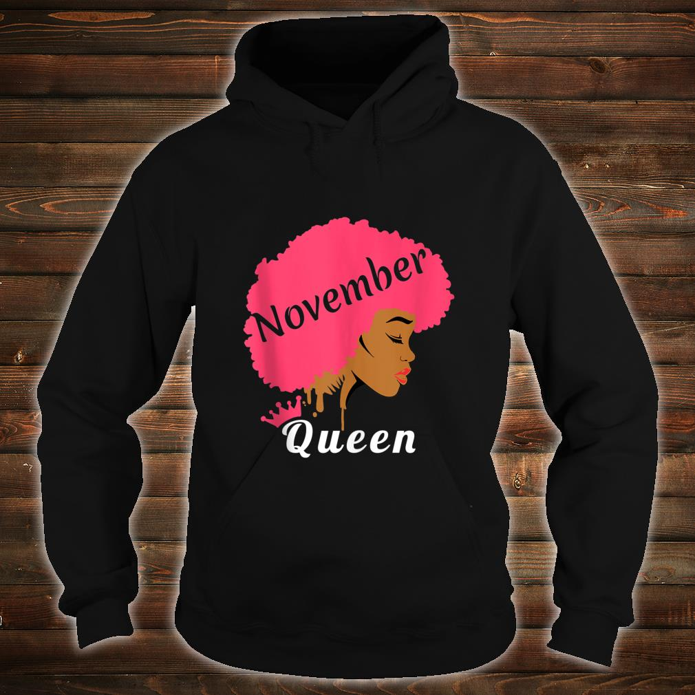 Queens Are Born In November Birthday Black Shirt hoodie